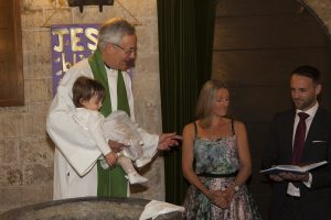 Baptism at St Swithins Quinton