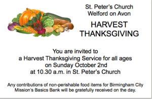St Peters Harvest 2016