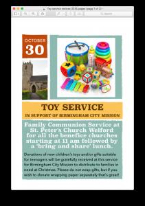 Toy Service - 30 Oct 2016